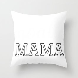Goalie Mama Cute Hoodie for Moms of Soccer, Hockey Goalies Throw Pillow