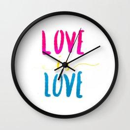 Love is Love - Pan Wall Clock