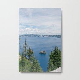 Brilliant Blue Waters of Crater Lake, Oregon Metal Print