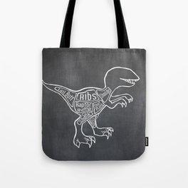 Raptor Dinosaur (A.K.A Bird of Prey) Butcher Meat Diagram Tote Bag