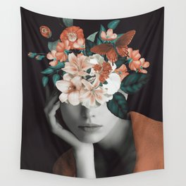 WOMAN WITH FLOWERS 7 Wall Tapestry