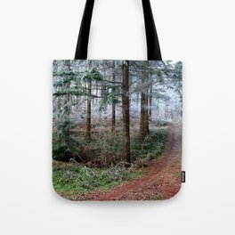 the red forest crossing Tote Bag