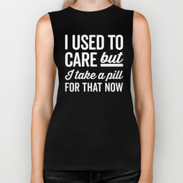 I Used To Care Funny Quote Biker Tank