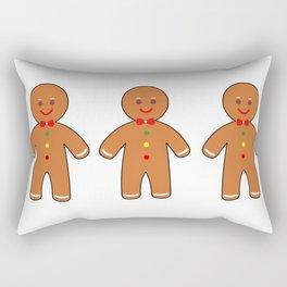 Happy gingerbread men Rectangular Pillow