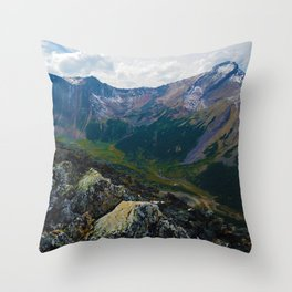 Down in the Valley, Pyramid Mt in Jasper National Park, Canada Throw Pillow