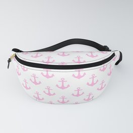 Anchors (Pink & White Pattern) Fanny Pack