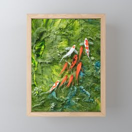 Goldfish on colorful background Framed Mini Art Print