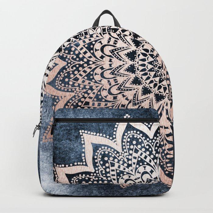 BLUE BOHO NIGHTS MANDALA Backpack