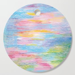 Pastel abstract 3 Cutting Board