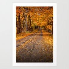 Fall Rural Country Road Art Print