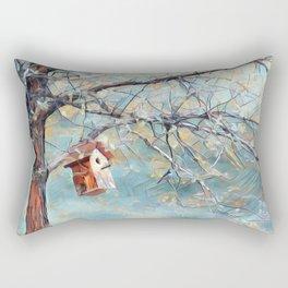 A Chickadees Home Rectangular Pillow