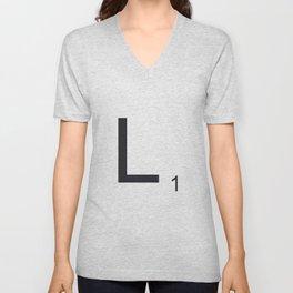 Scrabble L Unisex V-Neck