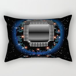Electronic Motherboard Circuit Sphere Globe Rectangular Pillow