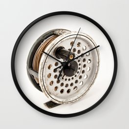 Fly Reel Wall Clock