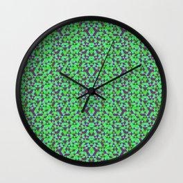 PURPLE AND GREEN MINI RECTANGLES Wall Clock