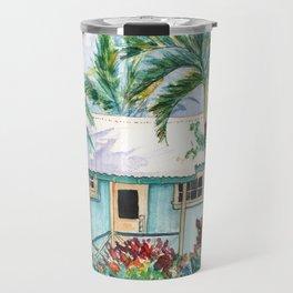 Tropical Vacation Cottage Travel Mug