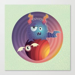 Monster in your head Canvas Print