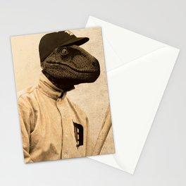 Baseball Velociraptor Stationery Cards
