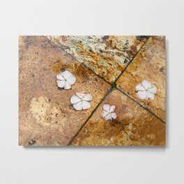 Flowers on Water Metal Print