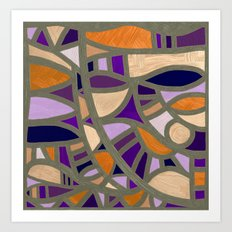 Gaudy Gaudi orange & purple Art Print