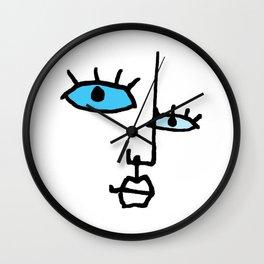 abstract face II Wall Clock