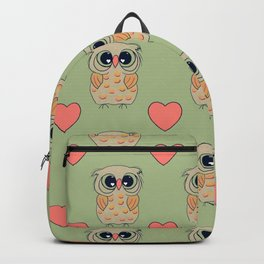 Owl Always Love You-green background Backpack