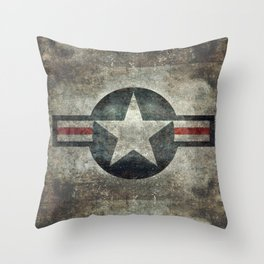 Air force Roundel v2 Throw Pillow