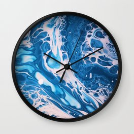 Glossy Currents 1 Wall Clock