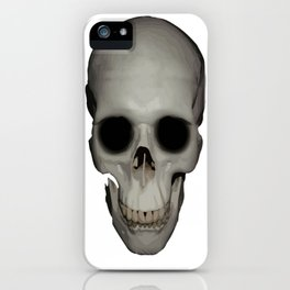 Human Skull Vector Isolated iPhone Case