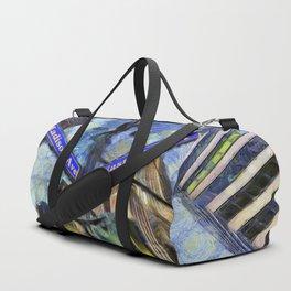 New York Street Sign Van Gogh Duffle Bag