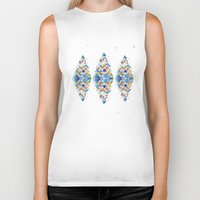 diamond Biker Tanks featuring Diamond  by sandesign