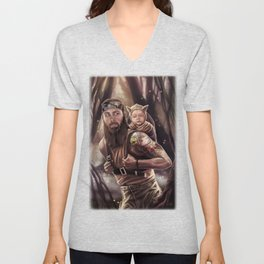 Father and Son Swamp Training Unisex V-Neck