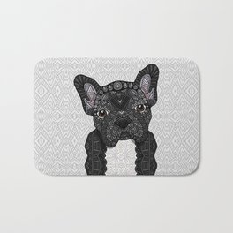Black Frenchie 001 Bath Mat