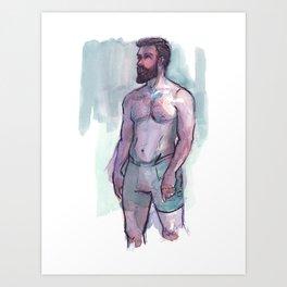 CHRIS, Semi-Nude Male by Frank-Joseph Art Print
