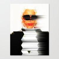 karl Canvas Prints featuring Karl vs. Karl by angelsnake