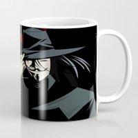 vendetta Mugs featuring V for Vendetta (e1) by Ezgi Kaya