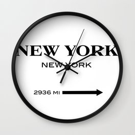 gossip girl sign Wall Clock