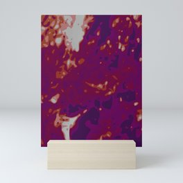 Glowing Purple - White - Carmin Abstract Vector Texture Mini Art Print