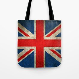 Old and Worn Distressed Vintage Union Jack Flag Tote Bag