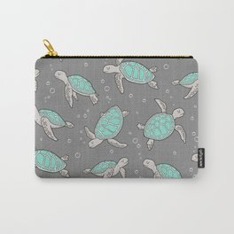 Sea Turtles on Grey Carry-All Pouch