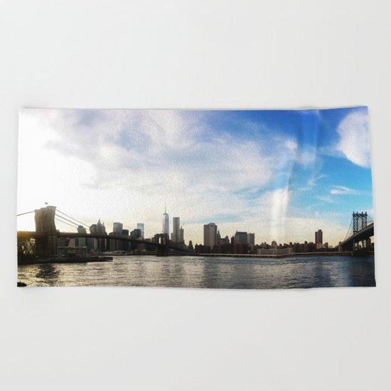 New York City Bridges Beach Towel