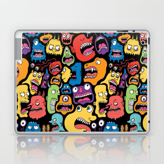 Monster Faces Pattern Laptop & iPad Skin