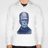 frankenstein Hoodies featuring frankenstein by FlacoGarcia
