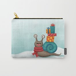 Holiday Snail Carry-All Pouch