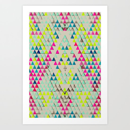 TRIANGLE SUMMER Art Print