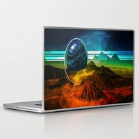 sci fi Laptop & iPad Skins featuring Sci-Fi Mountains by Daluci Designs