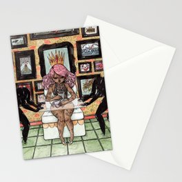 Royalty in Obsidian Stationery Cards