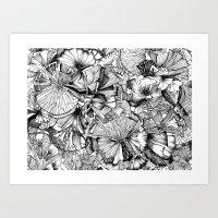 Blooming Lines Art Print