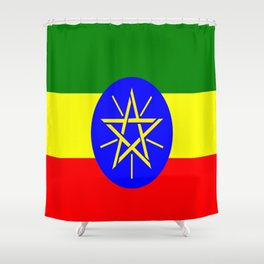 Flag of Ethiopia Shower Curtain