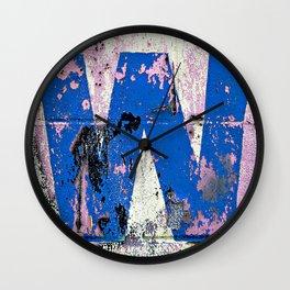 Blue W  Wall Clock